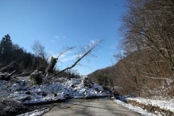 Aktiviralo se klizište u Zagorju: Zemljana lavina čupala drveće i u potpunosti blokirala državnu cestu