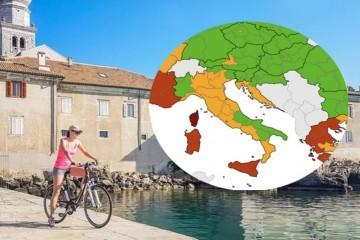 Nova korona karta Europe: Hrvatska obala u narančastom