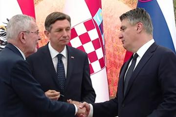 SASTANAK TRILATERALE  Predsjednici Austrije, Slovenije i Hrvatske o Krškom, zapadnom Balkanu i koroni