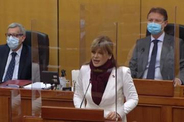 SABOR Vidović Krišto oštro prozvala Plenkovića i Vladu, na udaru našli se Martina Dalić i Vanđelić