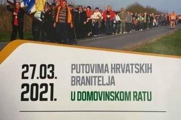 11.KRIŽNI PUT, putovima hrvatskih branitelja u DOMOVINSKOM RATU 27.ožujka 2021. /subota/