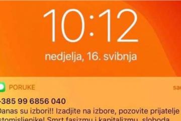 ŠOKANTNO Ovako izgledaju poruke koje su građani Zagreba dobivali sms-om: 'Smrt fašizmu i kapitalizmu, a sloboda narodu! Mi to možemo!'