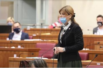 Karolina Vidović Krišto uputila zastupničko pitanje Plenkoviću – 'on primjenu vladavine prava ne poznaje'