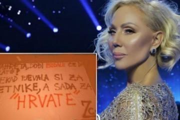 Lepu Brenu u Zagrebu dočekale neugodne poruke na plakatima