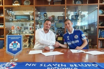 Lovro Zvonarek, velika nada Slaven Belupa, potpisao svoj prvi profesionalni ugovor