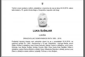 Posljednji pozdrav ratniku - Luka Šušnjar