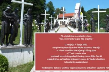 75. obljetnica Maceljske tragedije i žrtava hrvatskog Križnog put
