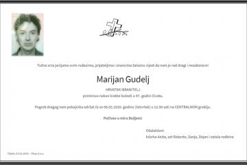 Posljednji pozdrav ratniku - Marijan Gudelj