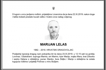 Posljednji pozdrav ratniku - Marijan Lelas