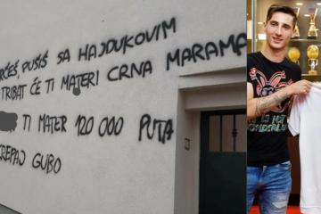 SRAMOTNO 'Navijači' Hajduka vandalizirali Jakoliševu kuću, pisali su grozote