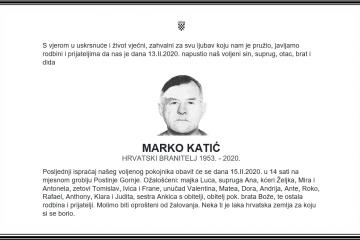 Posljednji pozdrav ratniku - Marko Katić