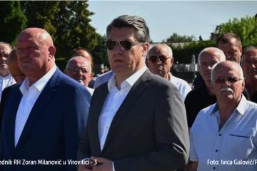 Virovitica: Milanović položio vijenac za poginule branitelje