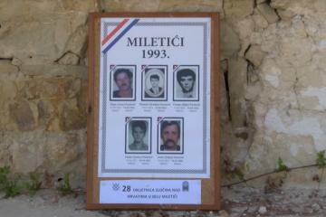 Obilježena 28. godišnjica zločina nad Hrvatima Miletića