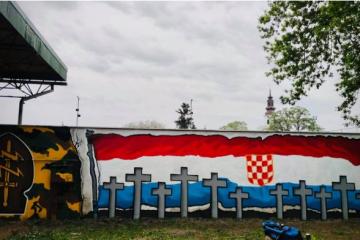(FOTO-VIDEO) Velikom bakljadom na Mejašima svečano otvoren mural u čast preminulog hrvatskog branitelja …