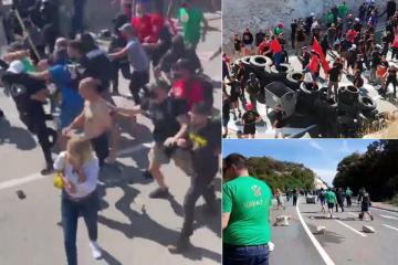 (VIDEO) PLANULA JE CRNA GORA! BARIKADE NA CESTAMA: Žestok okršaj s policijom, gume i kamenje na magistrali!