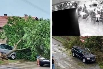 Nevrijeme u okolici Vinkovaca i Osijeka - srušena stabla, pokidani električni vodovi