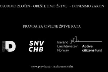 Documenta i SNV kampanjom 'Pravda za žrtve' podržali Zakon o civilnim žrtvama