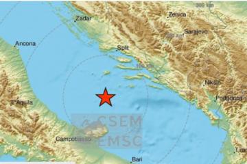 MAGNITUDE 3,8 PREMA RICHTERU Novi potres na Jadranu; osjetio se u Splitu, Šibeniku, Zadru...