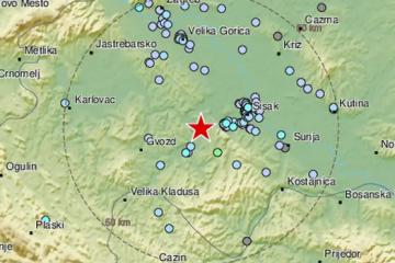 Osjetio se novi potres kod Gline, bio je jačine 2,9 po Richteru