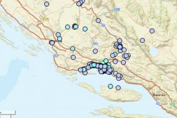 Dva nova potresa pogodila Dalmaciju