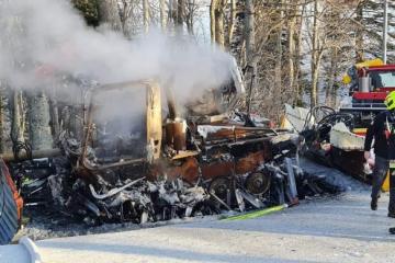 POŽAR NA SLJEMENU: Izgorjelo snježno vozilo koje košta više od dvjesto tisuća eura