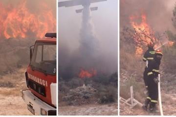Požar kod Trogira u 40 sekundi prešao dva kilometra. Šef vatrogasaca: 'Jako je ozbiljno, branit ćemo kuću po kuću'