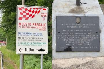 'Srpski agresor' izostavljen sa spomen-ploče na mjestu predaje 21. korpusa tzv. RSK