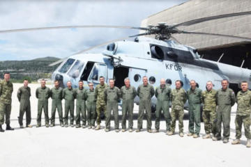 Pripadnici helikopterske eskadrile vratili se iz operacije KFOR-a na Kosovu