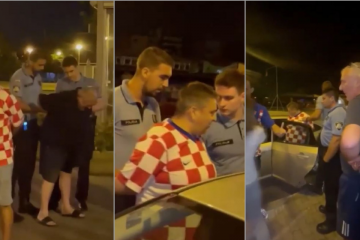 (VIDEO) POGLEDAJTE SNIMKU PRIVOĐENJA BRANITELJA! Nakon tekme ostali su predugo u kafiću u Španskom, slavlje je prekinula policija?