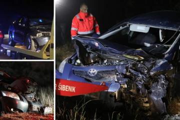 Petero ozlijeđenih u frontalnom sudaru dva auta kod Šibenika