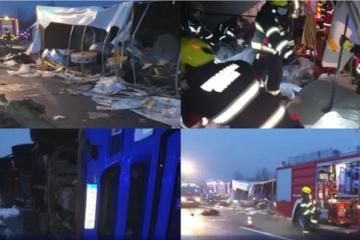 Teška prometna nesreća na A3: Poginule četiri osobe, 11 Sirijaca ozlijeđeno
