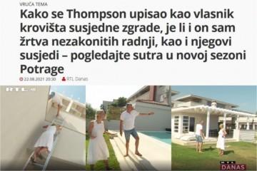 RTL priznao da je Thompson vlasnik terase na koju je Derifaj provalila, pa onda promijenili priču