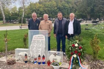 30. je godišnjica osnutka Sesvetske brigade, na Markovom polju položen vijenac