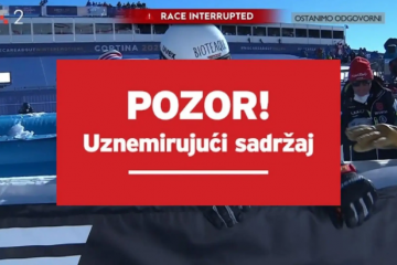 Teška nesreća na spustu: Zabio se u reklamu velikom brzinom, prekinuta utrka na SP u Cortini