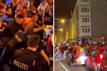 Pa ovako se ne slavi ni pobjeda Njemačke: Hrvati i 'die Polizei' napravili ludnicu u Frankfurtu!