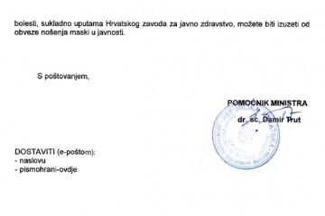 Hrvatskog ratnog vojnog invalida unatoč potvrdi o izuzeću od nošenja maski, napale zaposlenice Plodina?