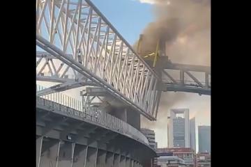 Zapalio se kultni stadion Santiago Bernabeu
