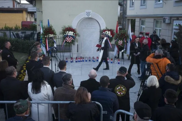 Sveta Nedelja: Otkriveno spomen-obilježje 14-torici poginulih hrvatskih branitelja