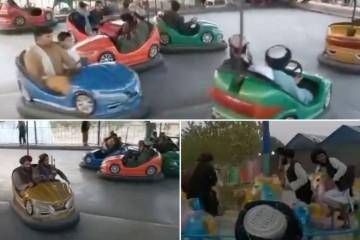 (VIDEO) TALIBANI SLAVE U LUNA-PARKU!? Da oči ne povjeruju: Ratnici se zabavljaju kao mala djeca, voze se na vrtuljku i skaču na trampolinu!