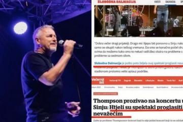 Thompsonov menadžment: Novinari Slobodne Dalmacije krivotvorili Thompsonovo obraćanje publici