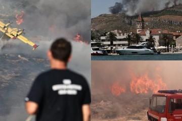 Na požarište iza Trogira poslana i vojska; zapovjednik Kovačević: Vatra nije pod kontrolom, najgore tek slijedi
