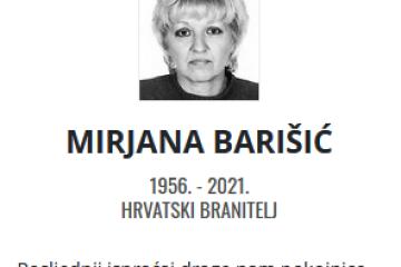 Mirjana Barišić - Hrvatski branitelj 1956. - 2021.