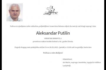 Aleksandar Putilin - Hrvatski branitelj 1955. - 2021.