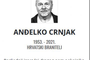 Anđelko Crnjak - Hrvatski branitelj 1953. - 2021.