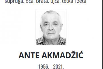 Ante Akmadžić - Hrvatski branitelj 1956. - 2021.
