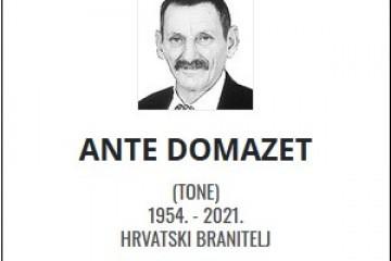 Ante Domazet - Hrvatski branitelj 1954. - 2021.