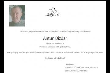 Antun Dizdar - Hrvatski branitelj 1953. - 2021.