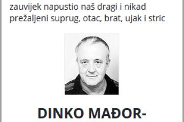 Dinko Mađor-Božinović - dragovoljac Domovinskog rata 1956. - 2021.
