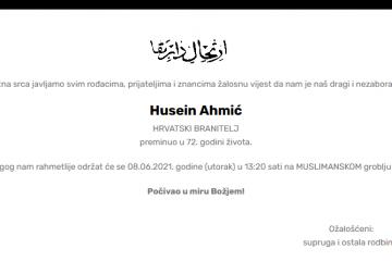 Husein Ahmić - Hrvatski branitelj 1949. - 2021.