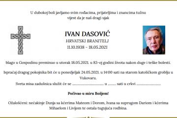 Ivan Dasović - Hrvatski branitelj 1938. - 2021.